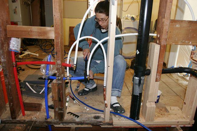 Plumbing for Toilet water line rough in