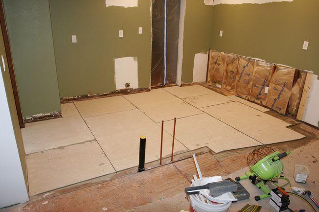 Floor prep for tile