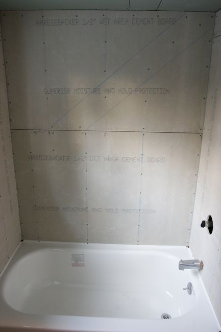 Upstairs bathroom for Drywall or cement board for shower